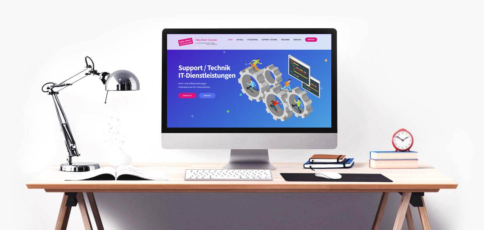 Nelly Bösch - Computer mit Webseite